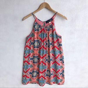 Blue Rain Aztec Printed Dress Size S